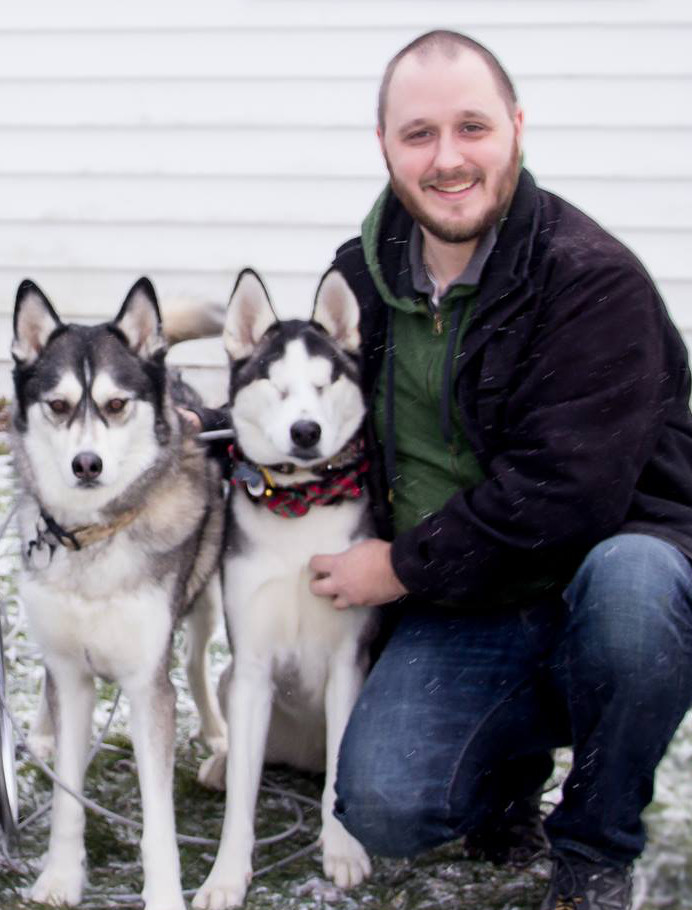 Benjamin Townsend with his dogs