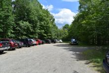 The parking lot at the trail head, was full the entire day.